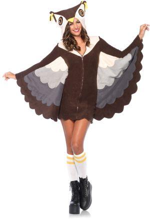 Sexy Adult Cozy Owl Costume