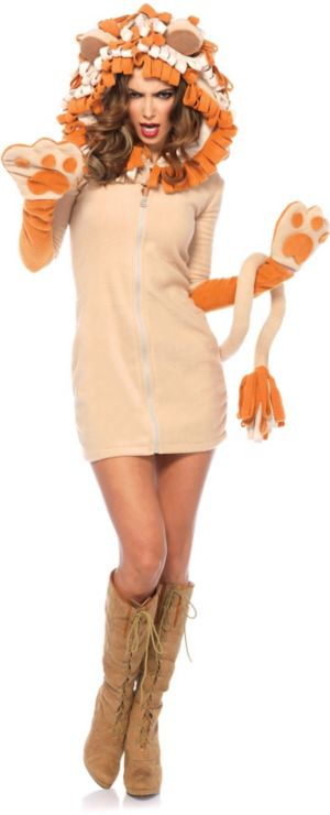 Sexy Adult Cozy Lion Costume