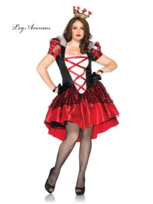 Sexy Adult Royal Red Queen Plus Size Costume