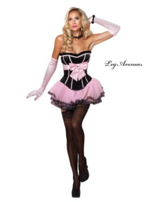 Adult Pink & Black Marilyn Corset