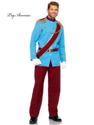 Adult Blue and Red Prince Charming Costume