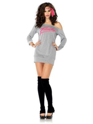 Adult Sexy Flashdance Sweatshirt Dress Costume