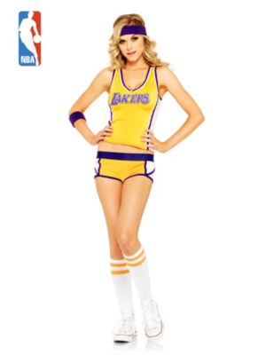 Sexy Adult Los Angeles Lakers Basketball Player Costume