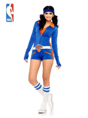 Sexy Adult New York Knicks City Dancers Retro Romper Costume
