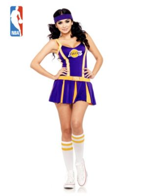 Sexy Adult Los Angeles Lakers Cheerleader Costume