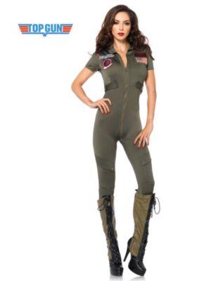 Sexy Top Gun Flight Suit Adult Costume