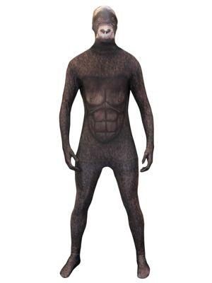 Adult Silverback Gorilla Morph Suit Costume