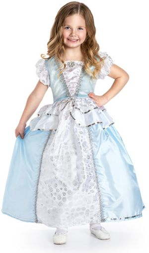 GIRLS DELUXE CINDERELLA PRINCESS COSTUME