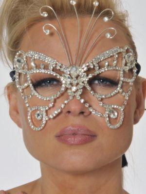 Rhinestone Butterfly Mask