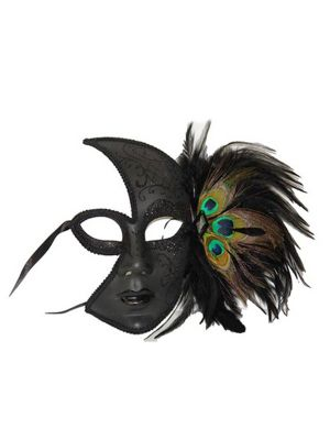 Peacock Feather Side Mask