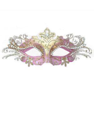 Pink Laser Cut Metal Mask