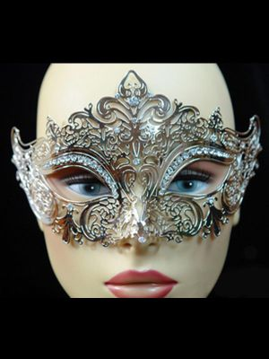 Diamond filigree Venetian Mask