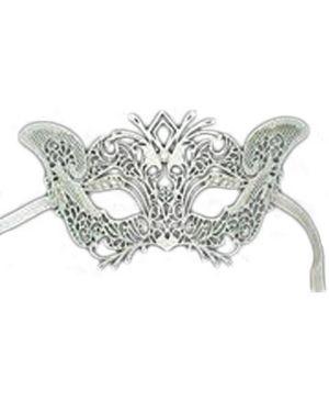 white Laser Cut Metal Mask