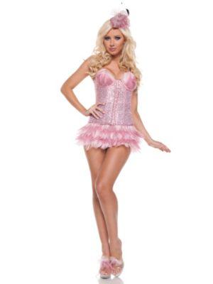 Deluxe Adult Sexy Flamingo Costume