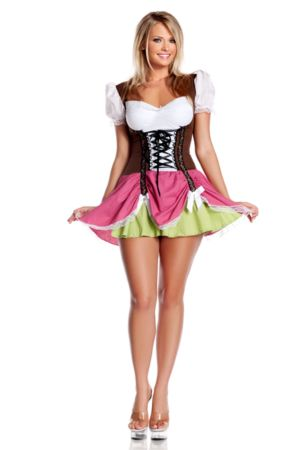 Adult Sexy Plus Swiss Beer Girl Costume