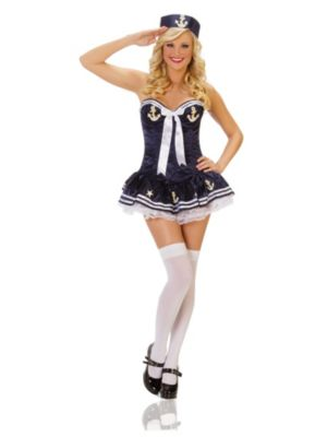 Sexy Navy Paris Sailor Womens Costume