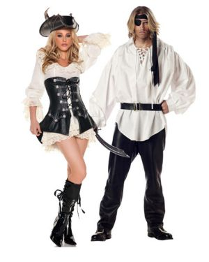 Sexy Rouge Pirate Womens Couples Costume