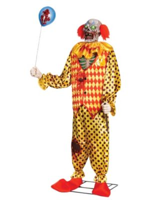 Animated Zombie Clown Prop