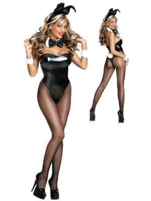Clubhouse Bunny Womens Sexy Costume