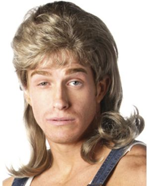Deluxe Dirty Blonde Mullet Wig Adult