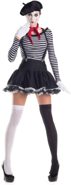 Sexy Adult Mesmerizing Mime Costume