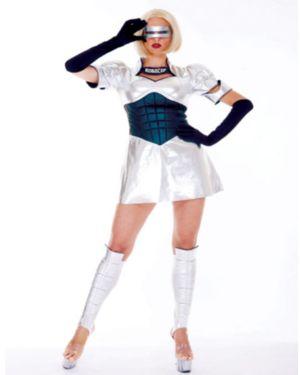 Adult Sexy Robo Babe Robocop Costume
