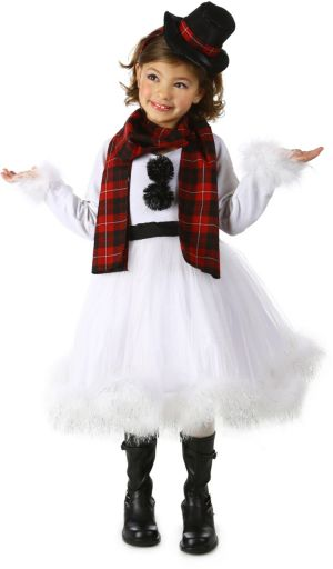 Shelby the Snowman Girls Costume