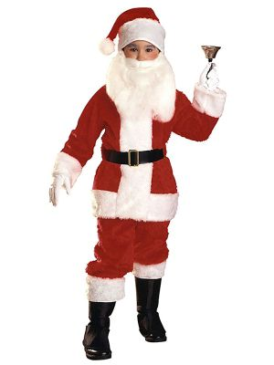 Child Plush Deluxe Santa Suit