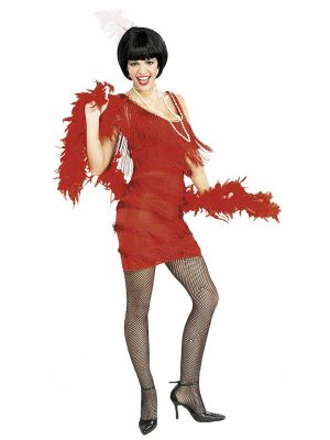 Adult Sized Flapper Dress In Roarin Red