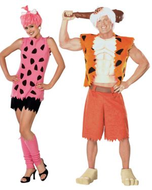 Flintstones Pebbles Adult Couples Costume