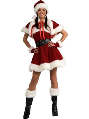 Adult Sexy Velvet Sexy Miss Santa Adult Costume