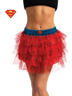 Sexy Adult Supergirl Sequin Skirt Costume