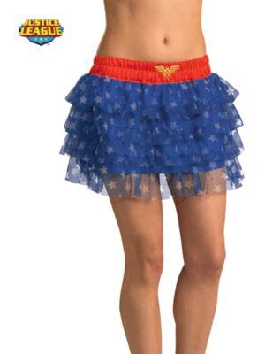 Sexy Adult Wonder Woman Sequin Skirt Costume