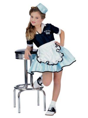 Car Hop Girl Costume for Child