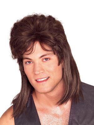 Women's Brown Mullet Wig