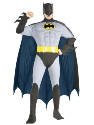 The Batman Muscle Chest Costume for Adults