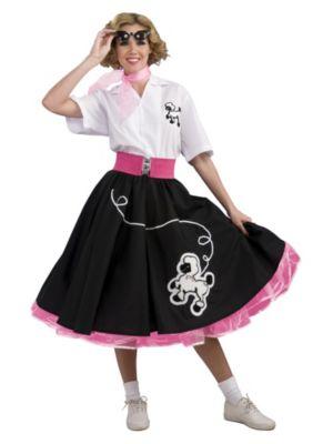 Adult Black 50s Poodle Complete Costume