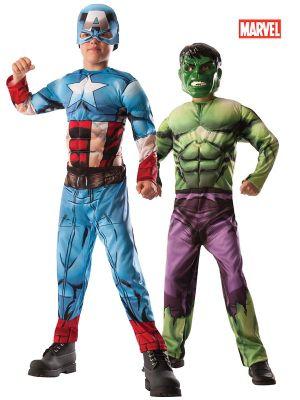 Child Captain America/Hulk 2-1 reversible Costume