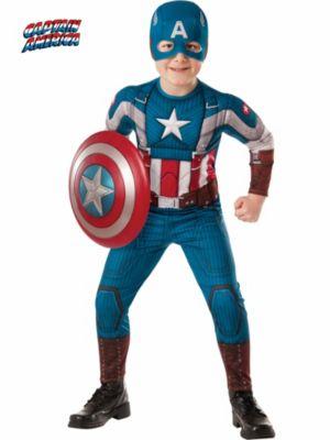 Child Captain America 2 Winter Soldier Retro Muscle Costume