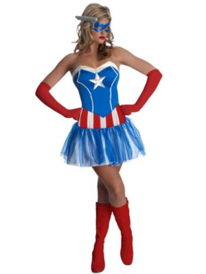 Sexy Adult American Lady Costume