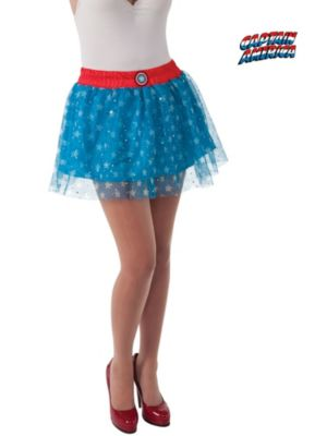 Sexy Adult Captain America Skirt Costume