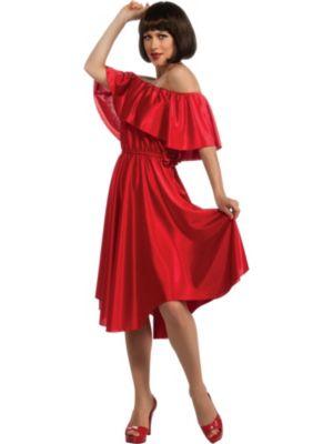 Saturday Night Fever Womens Red Dress Costume