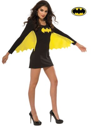 Sexy Adult Batgirl Wing Dress Costume