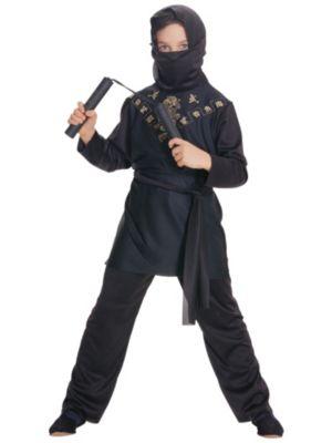 Kids Small Ninja In Black Costume