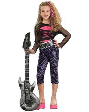 80s Rock Star Costume for Girls