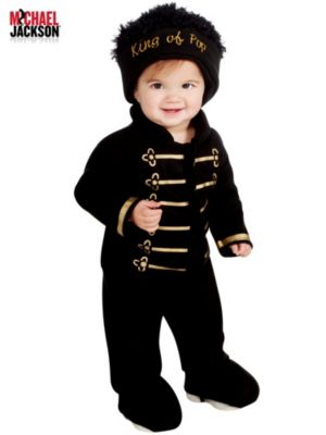 Newborn/Infant Romper Michael Jackson Black Military Costume