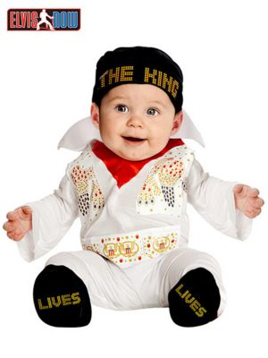 Newborn Infant Elvis Onesie Costume