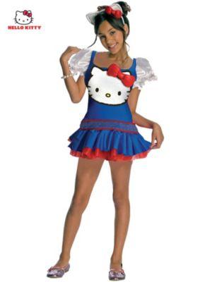 Child Blue Hello Kitty Costume