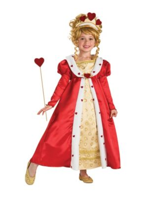 Child Red Heart Princess Child Costume