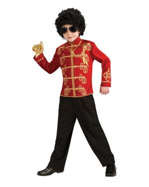 Red Michael Jackson Military Jacket Child